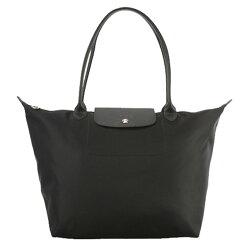 (Smile) LONGCHAMP 1899 578 大號 新款Le pliage系列 1899加厚尼龍超柔軟材質手提購物袋 超大容量 黑色