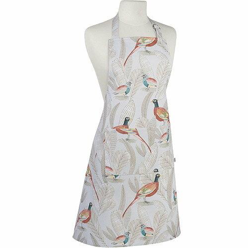 《NOW》平口單袋圍裙(長尾鳥)