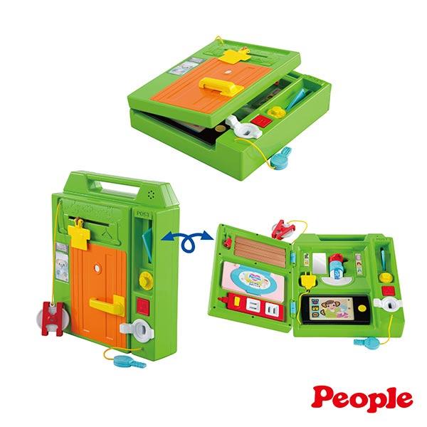 【奇買親子購物網】日本People益智手提聲光遊戲機