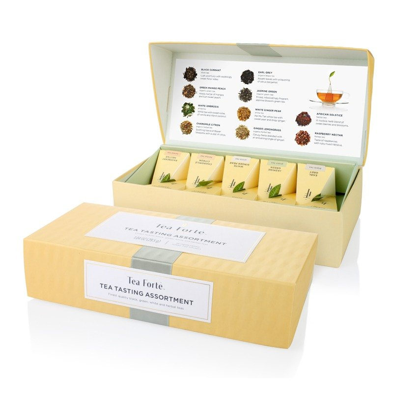 <br/><br/>  Tea Forte 10入金字塔型絲質茶包 - 饗茶集錦 Petite Box - Tea Tasting Assortment<br/><br/>