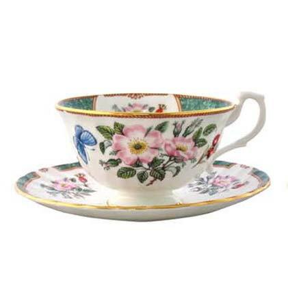 Hudson 英國 骨瓷午茶杯盤組 - Dogwood Rose 山茱萸
