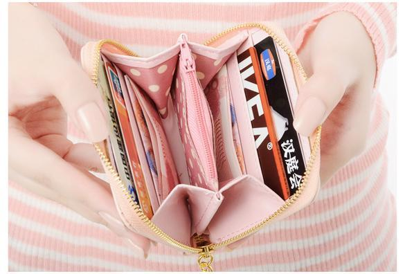 Women Wallet mini Synthetic Leather Card Holder 2