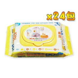 PiYo黃色小鴨-EDI超純水嬰兒柔濕巾超厚80抽-箱購