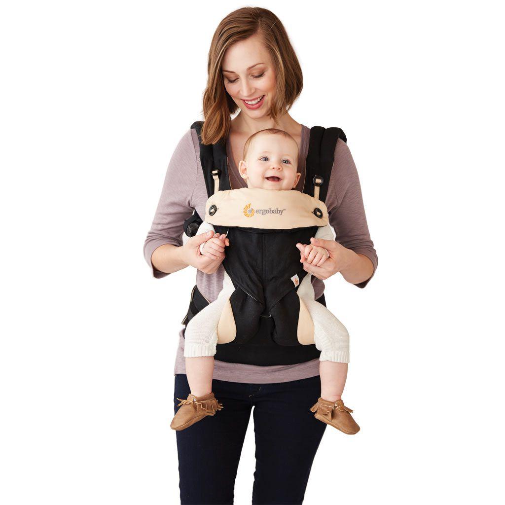 美國【Ergo baby】360度 嬰兒揹帶-黑駝色 3