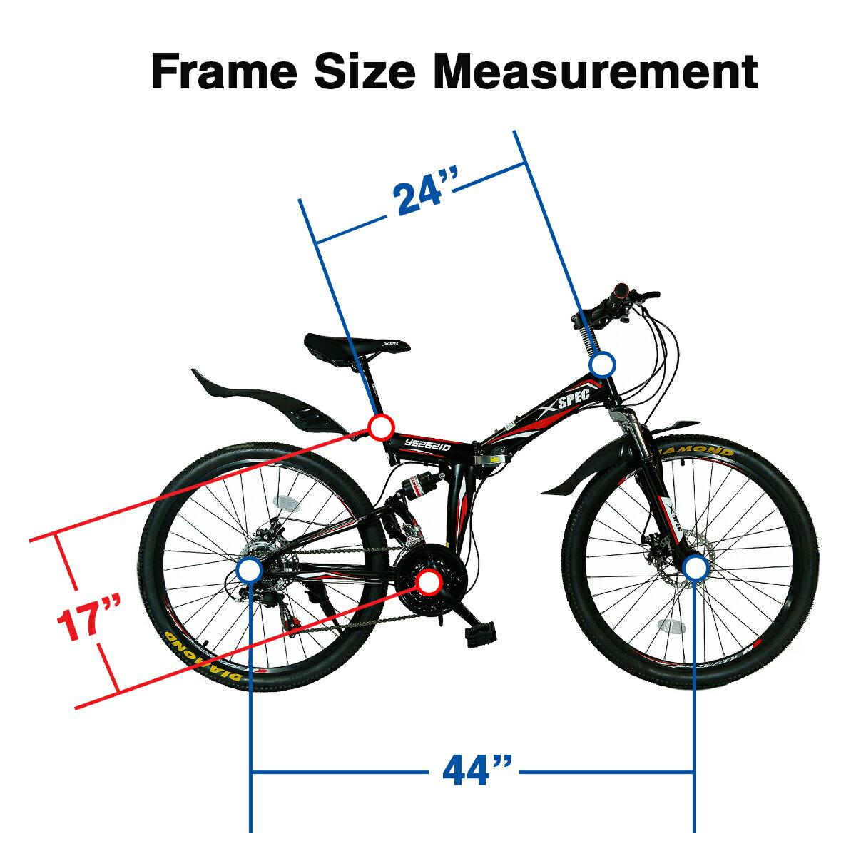 "Xspec 26"" 21 Speed Folding Mountain Bike Bicycle Trail Commuter Shimano Black 4"