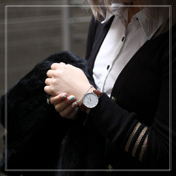 瑞典正品代購 Daniel Wellington 0960DW  銀 玫瑰金  真皮 錶帶 男女錶 手錶腕錶 34MM 4