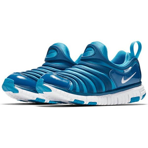 Nike Dynamo Free PS 童鞋 中童 休閒 毛毛蟲 藍 【運動世界】 343738-424