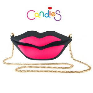 【Candies】花花女孩黑紅唇包包
