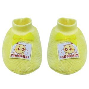 蜜妮寶貝嬰童用品館:【蜜妮寶貝嬰童用品館】暖絨腳套藍色、黃色、粉紅