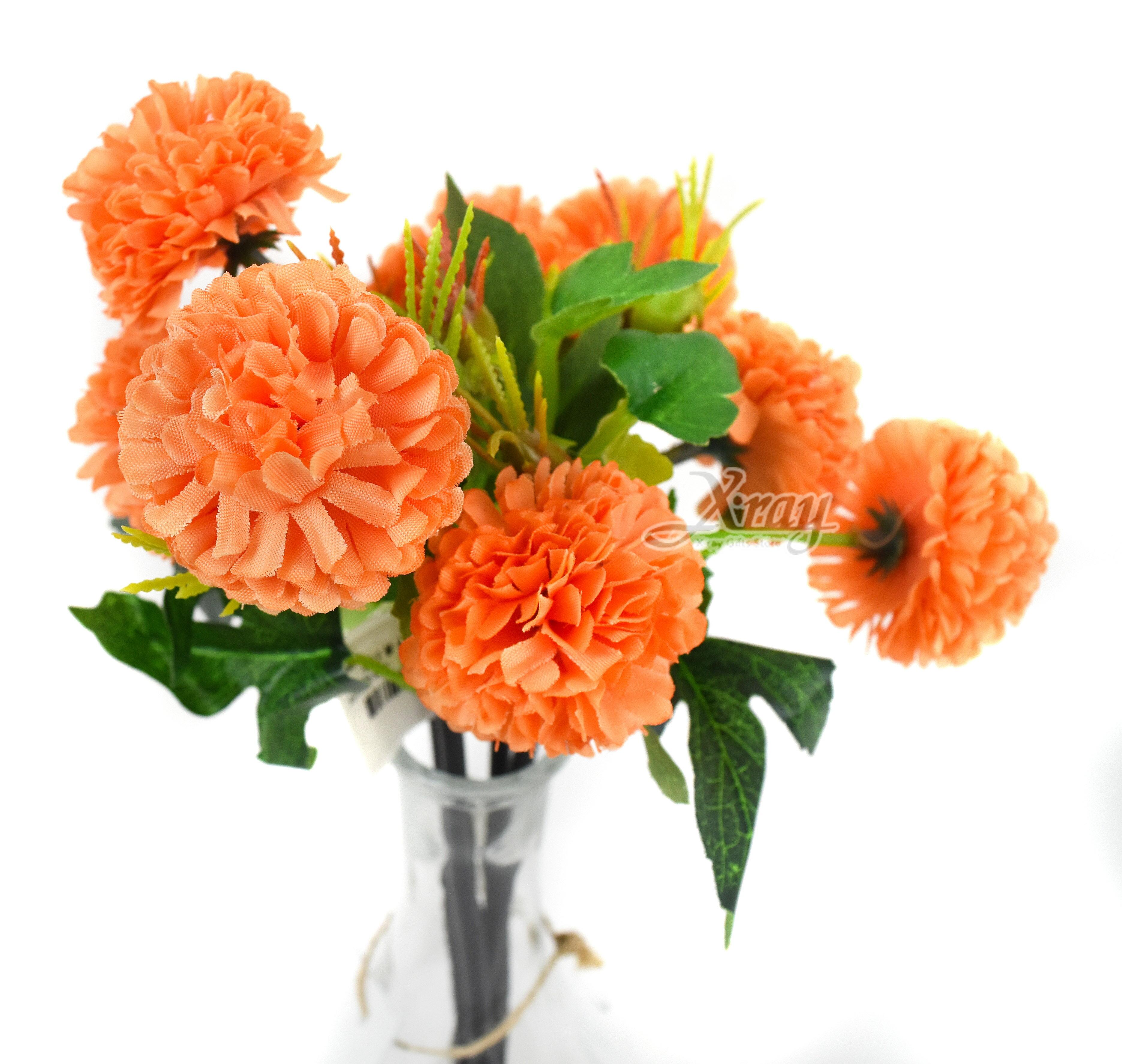 X射線【Y039030】乒乓菊-橘,仿真花 人造花  家飾 婚禮小物 佈置 裝飾 幼兒園 送禮  髮飾 活動佈置 花束 花園 陽台