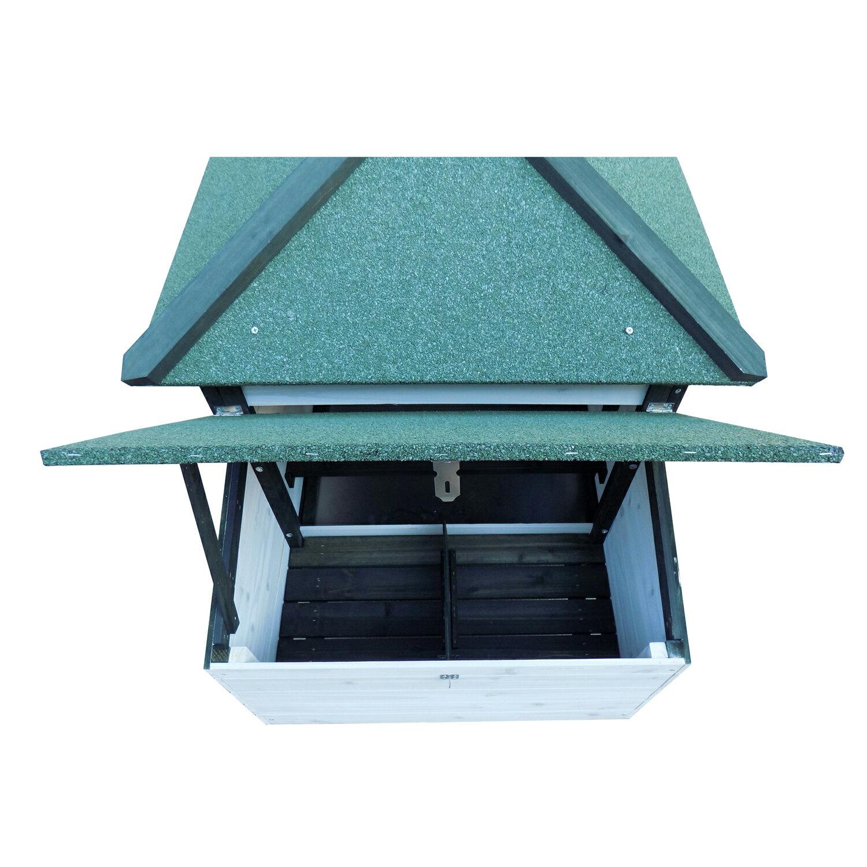 """Pawhut 77"""" Premium Wooden Chicken Coop w/ Backyard Run and Nesting Box 4"""