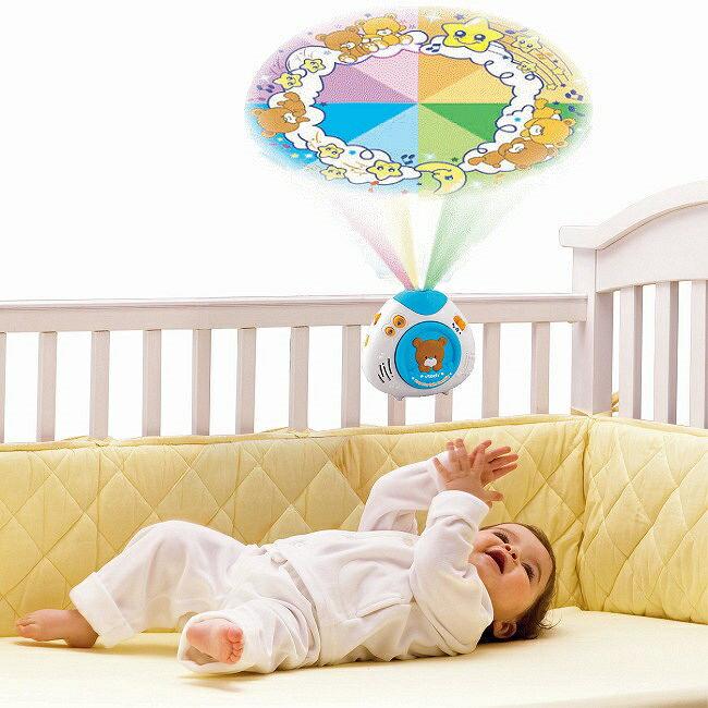 【週年慶特價66折起】美國【Vtech】寶貝熊床邊音樂投射機(藍色) 1