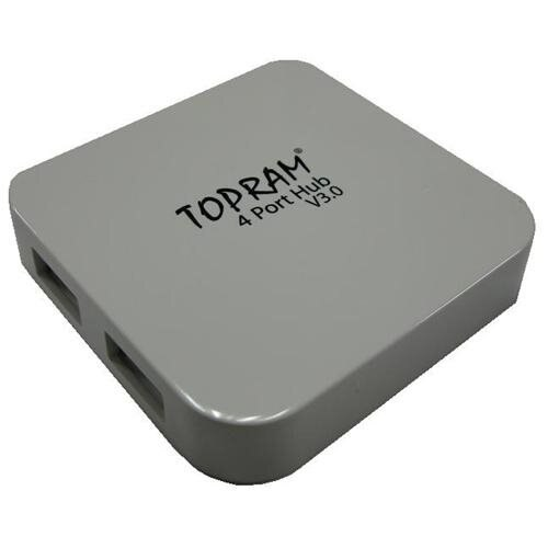 TOPRAM External 4 ports USB 3.0 Super Speed Pocket Sized Slim Design 4-port High Speed Hub up to 5Gb 1