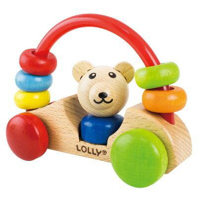 LOLLY 木製玩具-小熊號快樂車【悅兒園婦幼生活館】 - 限時優惠好康折扣
