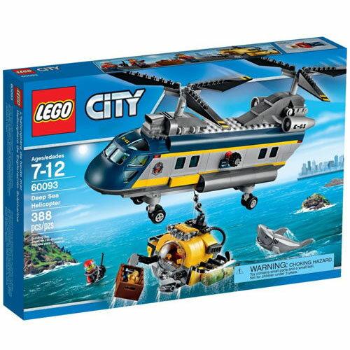 【LEGO 樂高積木】City 城市系列 - 深海探險直升機 LT-60093