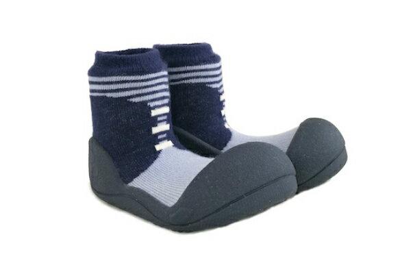 【任2雙$1099】韓國【Attipas】快樂腳襪型學步鞋(英倫紳士藍 /灰)【11月週年慶】