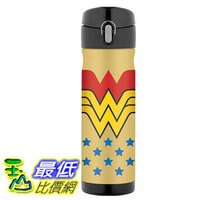 THERMOS 膳魔師保溫杯/保溫瓶/燜燒鍋推薦到[106美國直購] Thermos Wonder Woman 神力女超人 16 Ounce 不鏽鋼保溫運動水壺