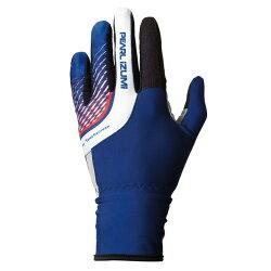 【7號公園自行車】日本 PEARL IZUMI W28-18 女性抗UV全指手套(藍)