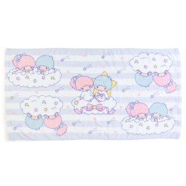 【真愛日本】18052300033純綿無撚系浴巾-TS星星ACP雙子星KIKILALA浴巾純棉浴巾