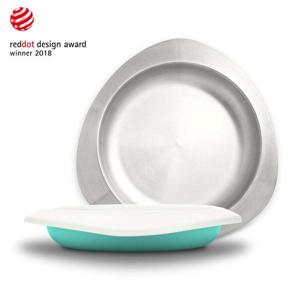 【奇買親子購物網】VIIDASoufflé抗菌不鏽鋼餐盤