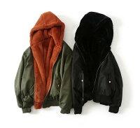 飛行外套推薦到Boho Chic 歐美寬鬆休閒感毛毛雙面穿保暖防風飛行員口袋長版外套就在Stacey Boutique推薦飛行外套