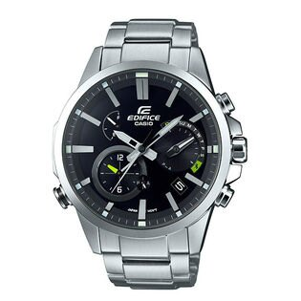 CASIOEDIFICEEQB-700D-1A湛黑藍牙時尚腕錶黑面48.2mm