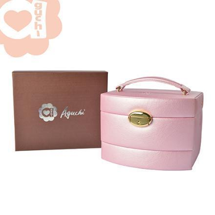 【Aguchi 亞古奇】皇家風範-優雅粉袖珍版 珠寶盒(氣質貴族系列) 2
