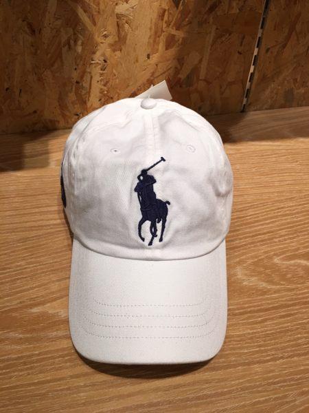 【蟹老闆】RALPhlauren 大馬 POLO老帽 Cap 白色 男女可戴 頭圍可調整