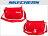 Shoestw【S57102】SKECHERS 側背包 輕量 刺繡LOGO 紅色 多拉鍊層 多功能包 小側背包 0