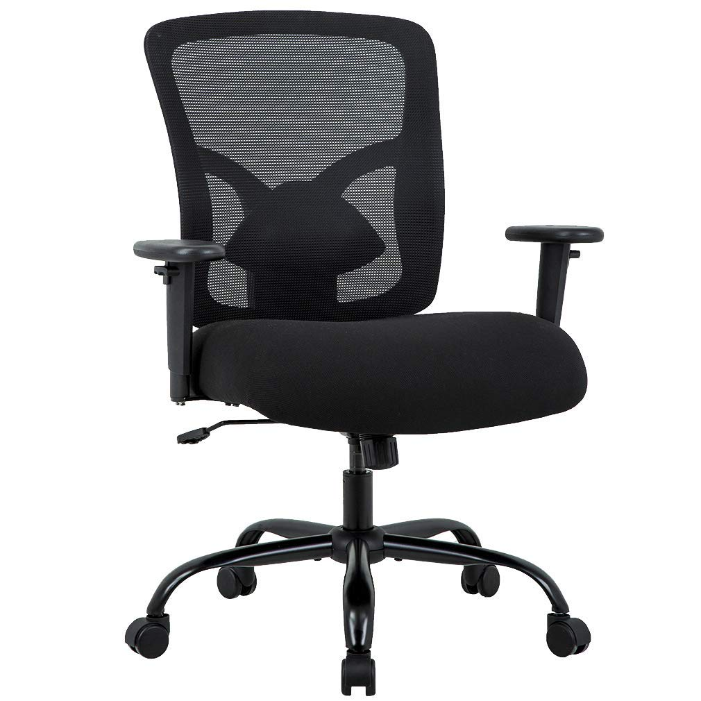 Best Office Chairs For Back Support >> Bestoffice Big And Tall 400lb Office Chair Desk Ergonomic Executive Rolling Swive Adjustable Arms Mesh Back Computer Task Stool With Lumbar Support
