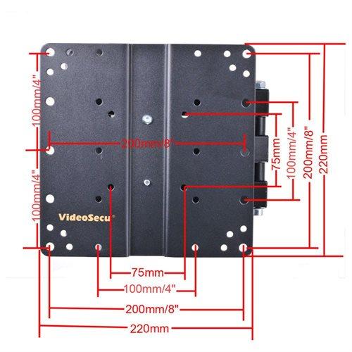 "VideoSecu Articulating Arm Swivel Tilt TV Wall Mount for most 22 24 26 27 28 29 32 37 39 40"" LED LCD HDTV Flat Panel Screen Displays Full Motion TV Monitor Mount Bracket- Level Adjustment/ Long Extension 14""/ Heavy Duty B65 1"