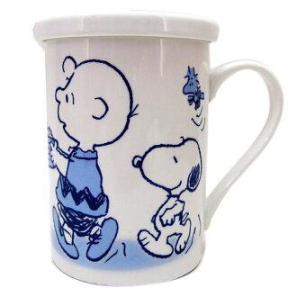 【真愛日本】13052200016 附蓋馬克杯-SN查理布朗B 史努比 SNOOPY 咖啡杯 下午茶杯 陶瓷杯