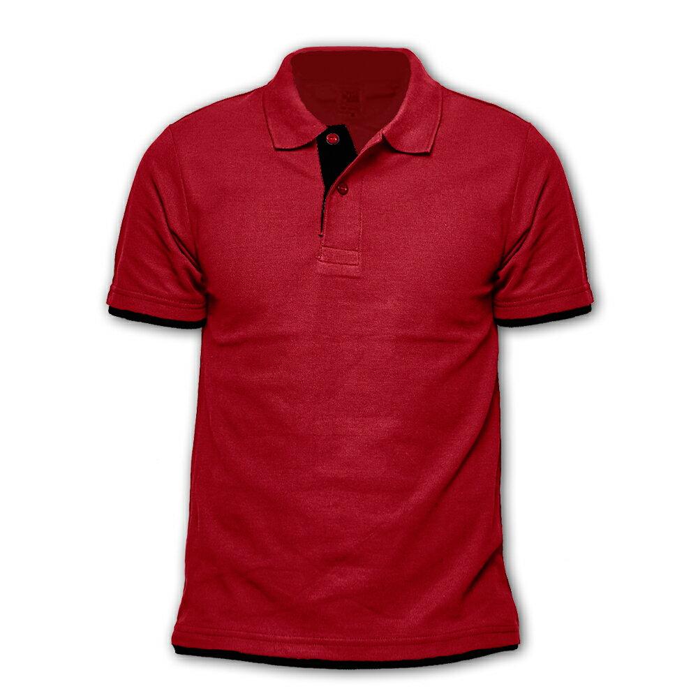DITION 短袖POLO衫 素面polo 拼接雙色 多尺寸 職人 情侶款 紳士休閒 1