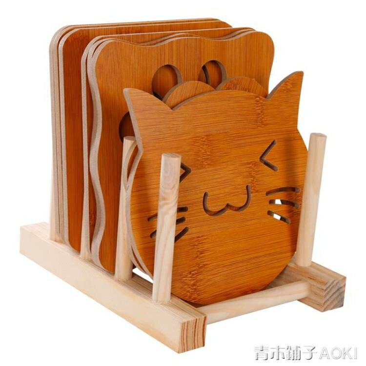 廚房隔熱墊餐桌墊歐式家用木質餐墊杯墊耐熱防燙碗墊盤子墊菜墊「青木鋪子」