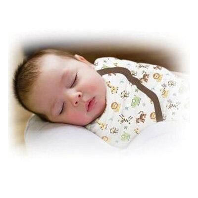 【悅兒樂婦幼用品?】美國Summer Infant 聰明懶人嬰幼兒睡袋包巾【純棉系列-動物園】