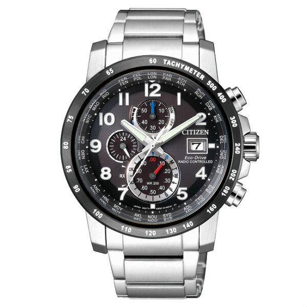 CITIZEN星辰錶AT8124-83E高科技品味電波光動能腕錶黑面43mm