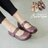 AppleNana。日系女孩雷射雕花鏤空瑪莉珍真皮氣墊休閒鞋【QR52221480】蘋果奈奈 0
