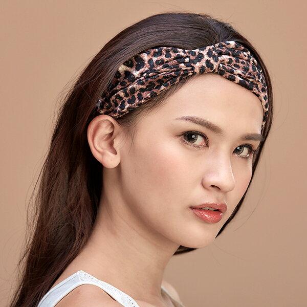 <br/><br/> 【樂芙莉LOVELY】我愛豹豹系列-純手作寬版多用途髮帶-豹紋(台灣製)<br/><br/>
