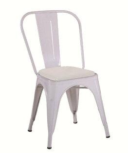 【石川家居】JF-488-8強尼白色皮面餐椅(單只)(不含其他商品)台北到高雄搭配車趟免運