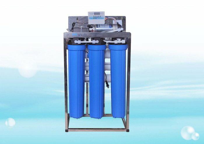 商業用全自動水質偵測 不鏽鋼腳架逆滲透RO機750PS型 150~200加崙  天