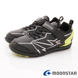 日本月星頂級競速童鞋 究極強2E系列 SSJ8636黑(中大童段)