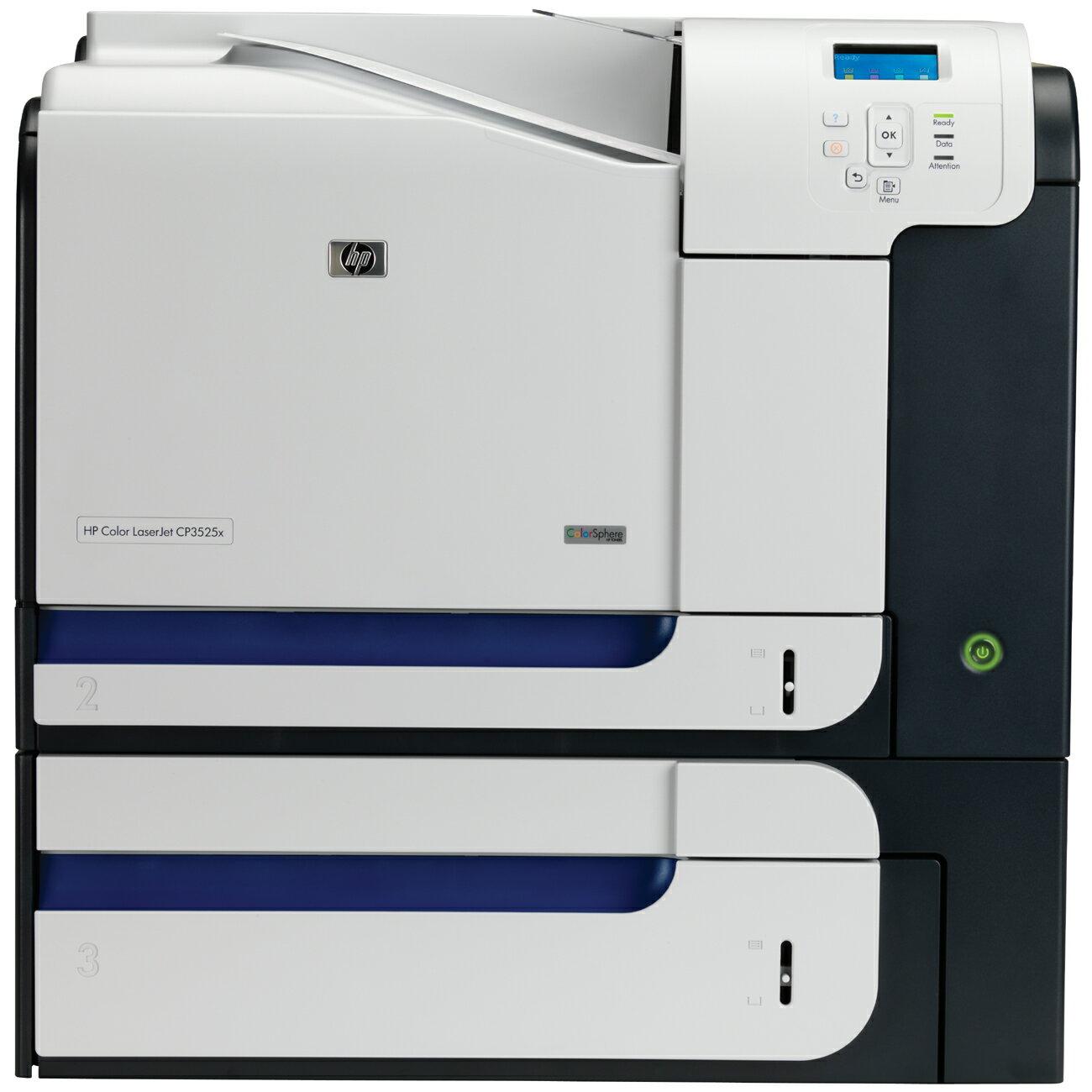 HP LaserJet CP3500 CP3525X Laser Printer - Color - 600 x 600 dpi Print - Plain Paper Print - Desktop - 30 ppm Mono / 30 ppm Color Print - Letter, Legal, Executive, Envelope No. 10, Envelope No. 7 3/4, Monarch Envelope - 850 sheets Standard Input Capacity 0