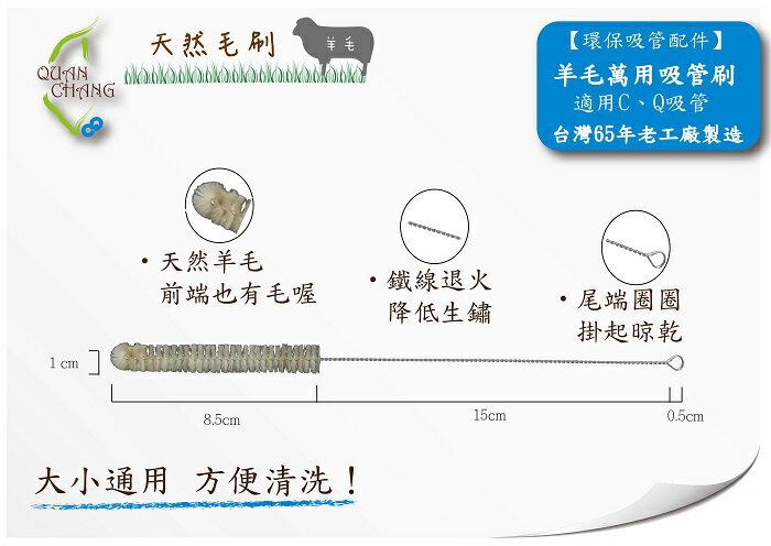 【QC館】台灣製造100%-環保清潔-萬用吸管刷--大小吸管都適合刷用