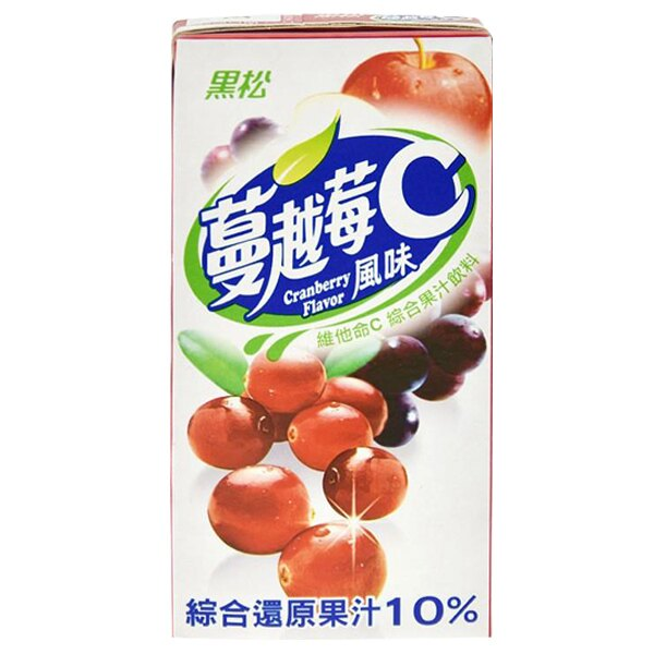 黑松 蔓越莓C 綜合果汁飲料 300ml (24入)x3箱【康鄰超市】