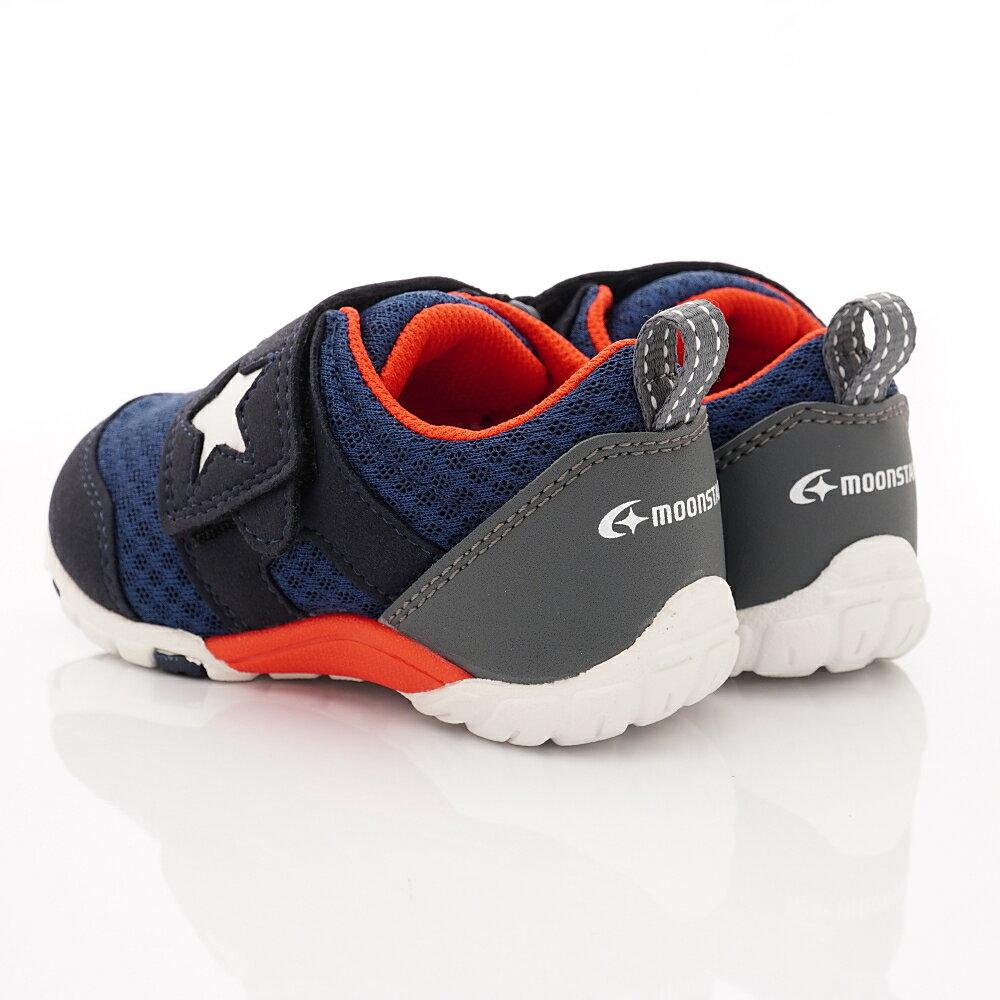 日本月星頂級童鞋 四大機能抗菌運動鞋款-MSC216635深藍(中小童段) 5