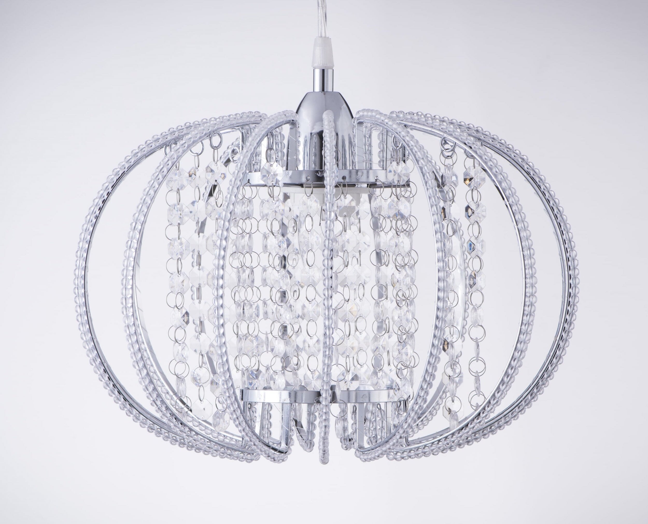 鍍鉻圓形透明壓克力珠吊燈-BNL00046 0
