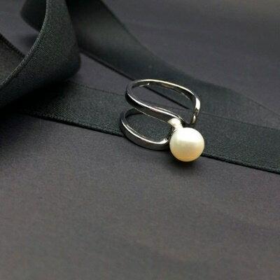 ~925純銀戒指珍珠銀飾~日韓 柔美浪漫生日情人節 女飾品73ic16~ ~~米蘭 ~