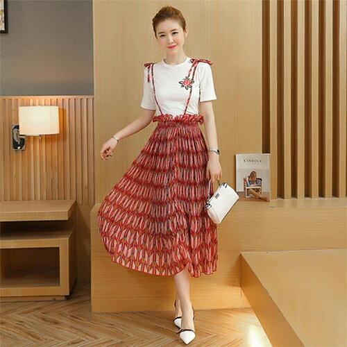 小清新時尚高腰顯瘦半身套裝裙兩件套 【OREAD】 0