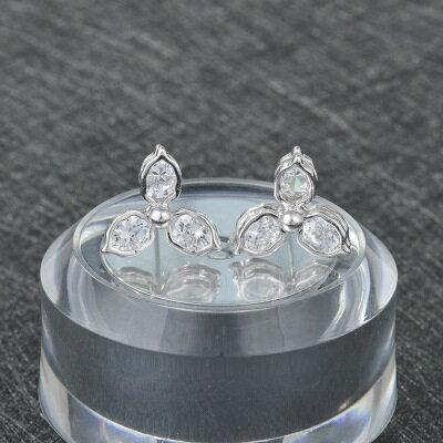 925純銀耳環鑲鑽耳飾~文藝俐落大方 情人節生日 女飾品2色73hz97~ ~~米蘭 ~