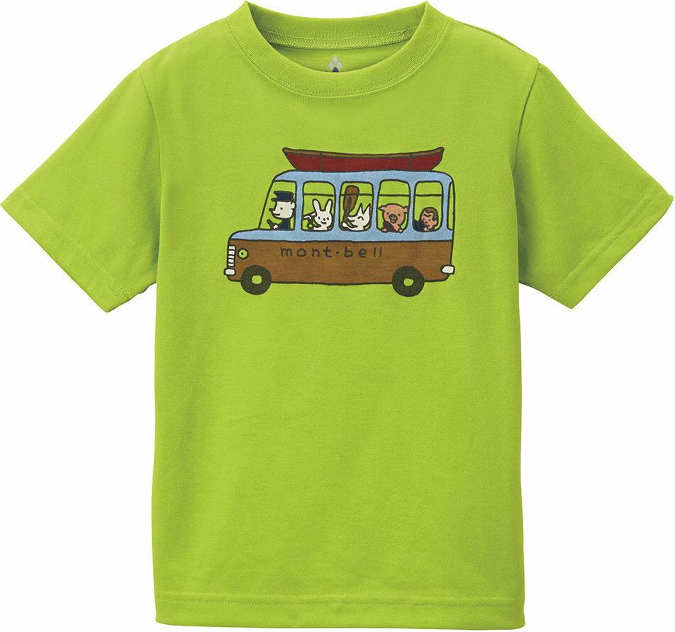Mont-Bell ] 兒童排汗短T/幼童排汗衣 Wickron 1114210/1114211 SPGN 巴士綠